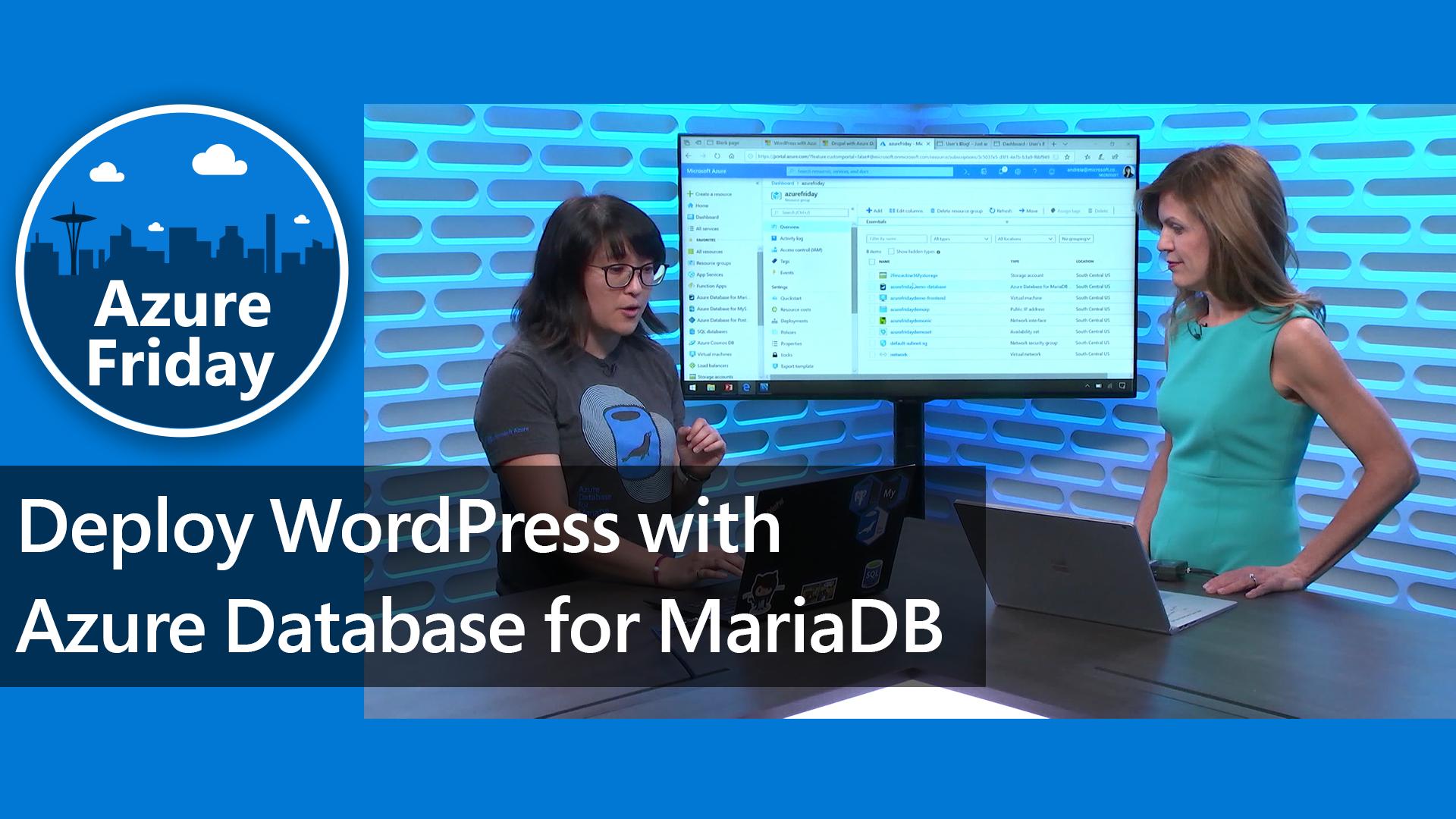 deploy wordpress with azure database for mariadb