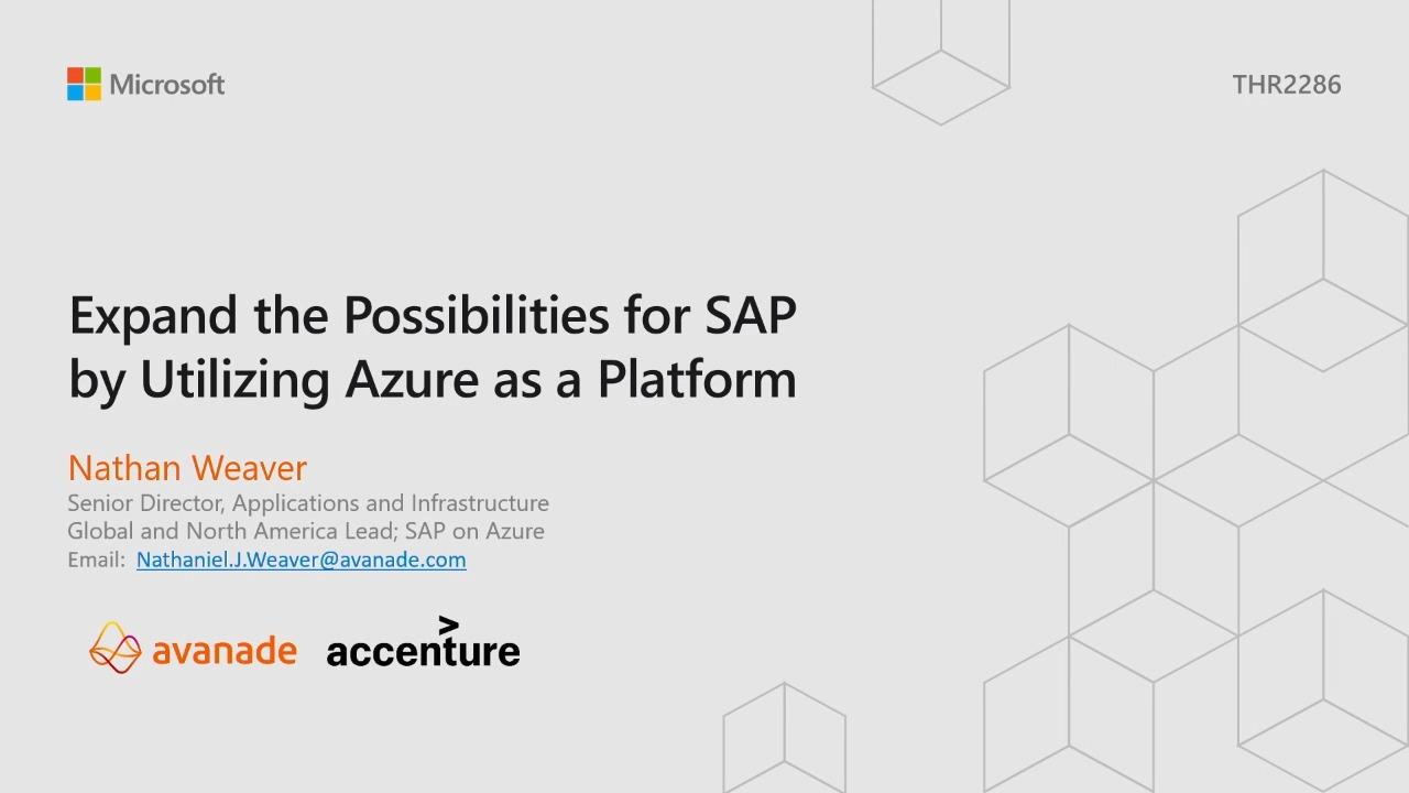 Expand the possibilities for SAP utilizing Azure as a platform