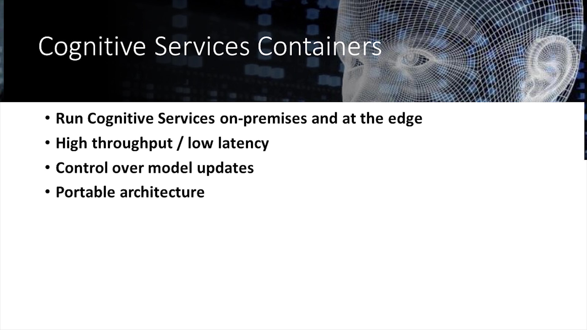 Containers Support of Cognitive Services