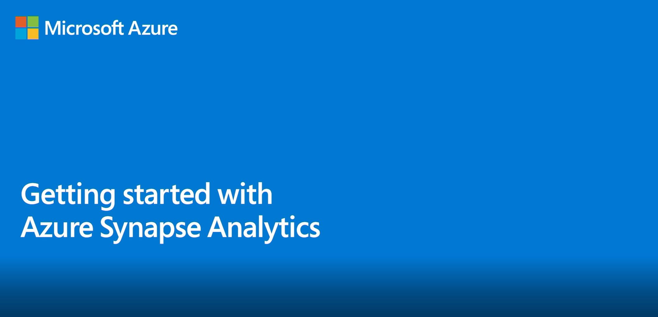 Get started with Azure Synapse Analytics and the new Knowledge Center