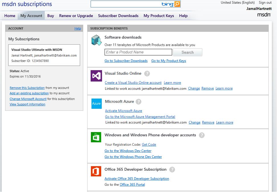 Create Office 365 Tenant Msdn Subscription MSDN Dev