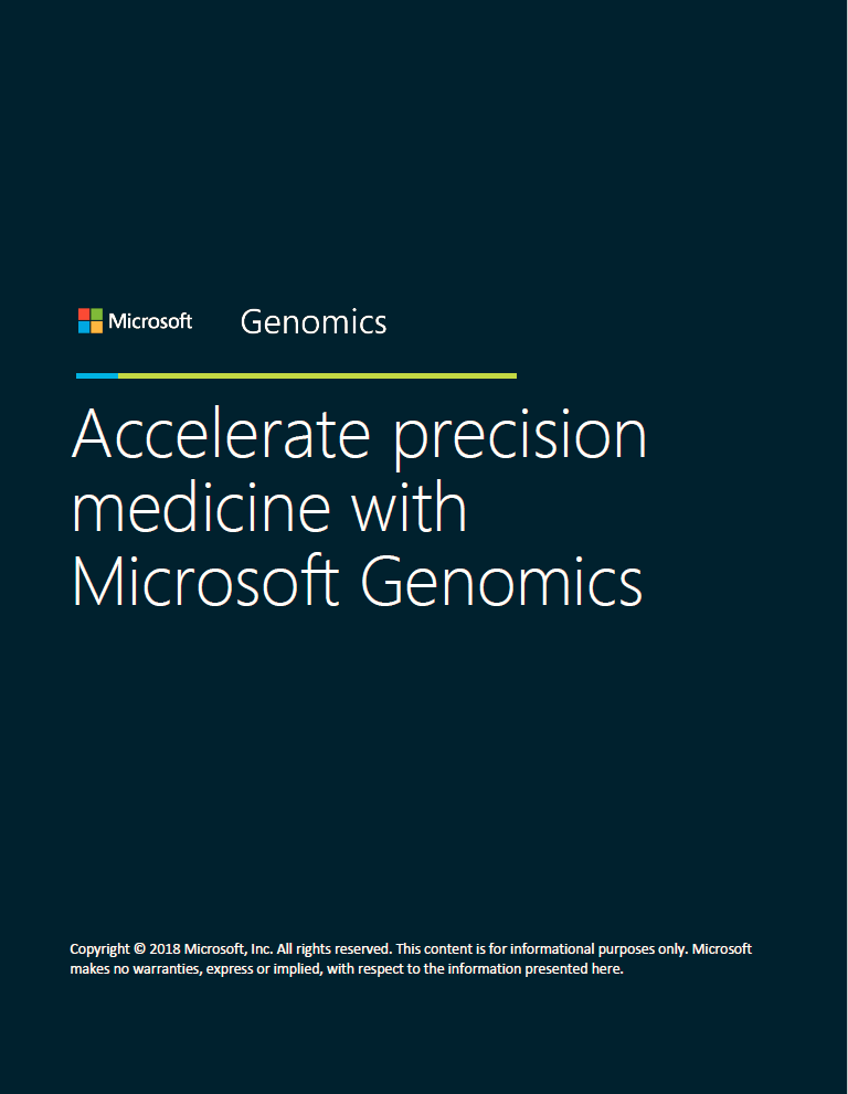 Accelerate precision medicine with Microsoft Genomics