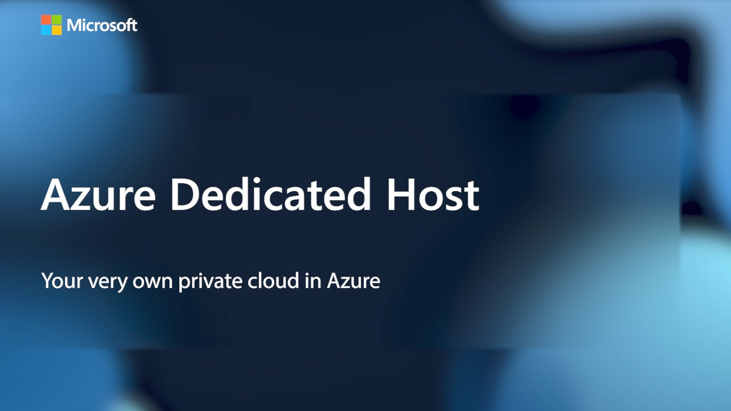 Azure Dedicated Host - Your very own private cloud in Azure