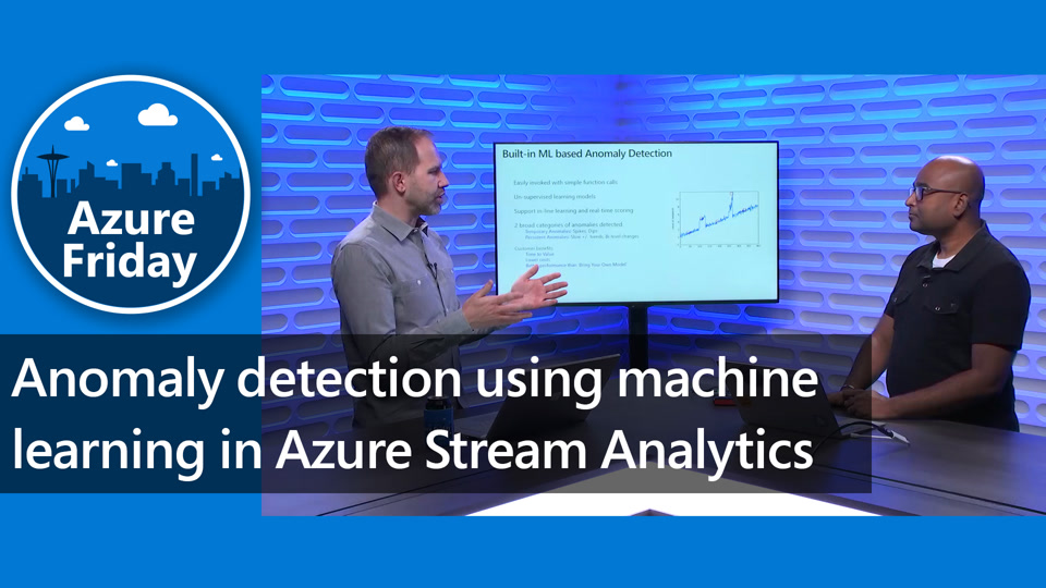 Anomaly detection using machine learning in Azure Stream Analytics