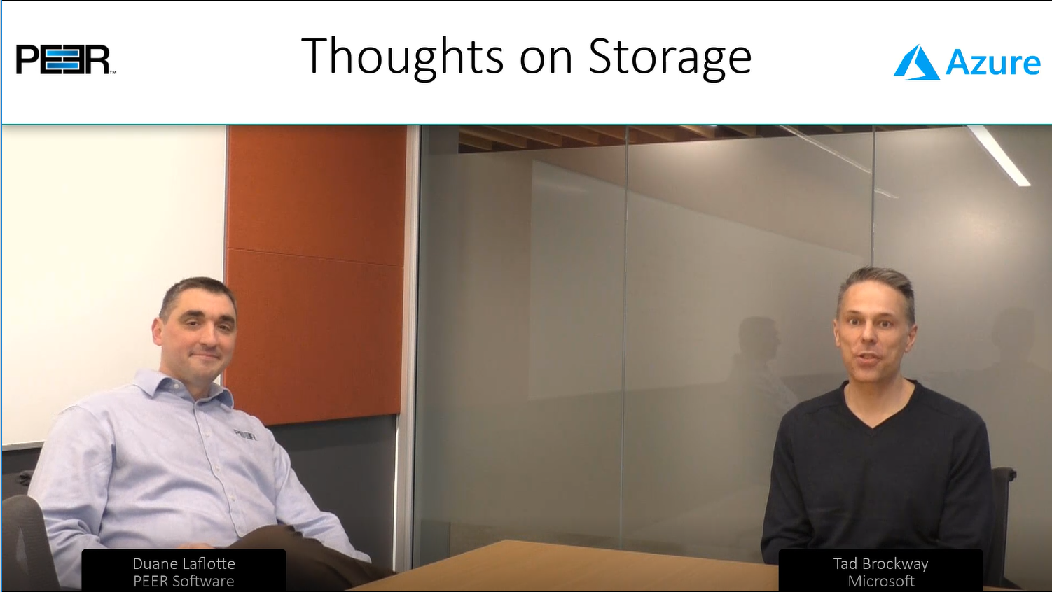 Thoughts on Storage with Peer Software