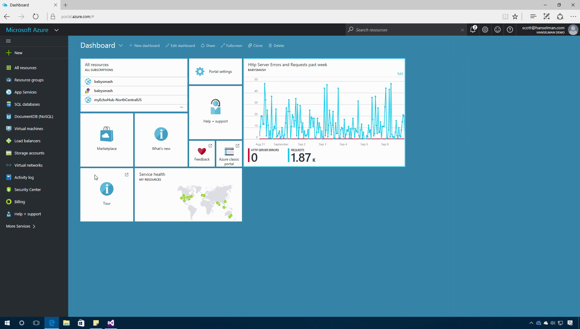 Get Started with the Azure portal and Azure App service