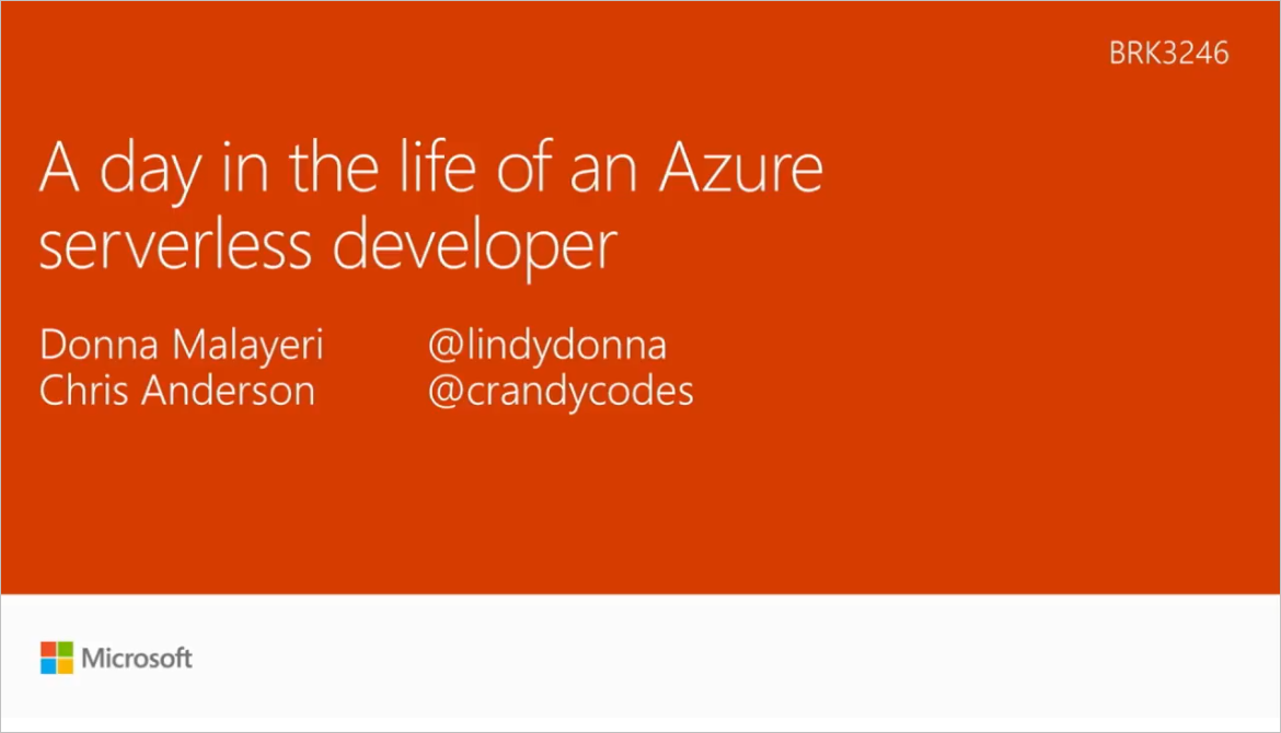 A day in the life of an Azure serverless developer