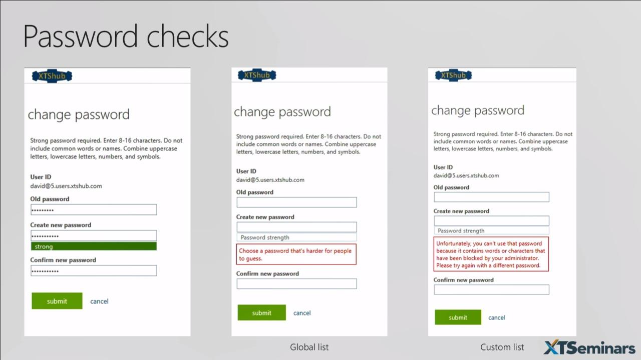 Azure Active Directory hybrid identity and banned password detection