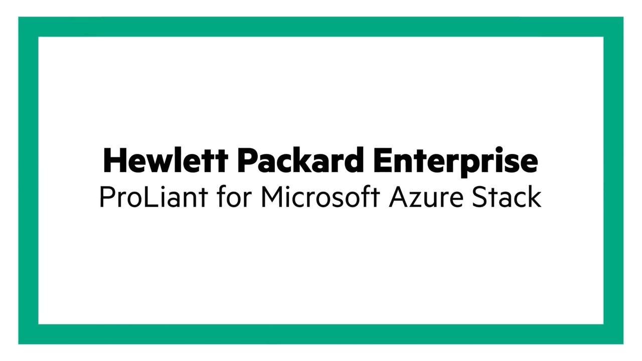 Top 5 reasons to choose a Microsoft Azure Stack hybrid cloud with HPE ProLiant