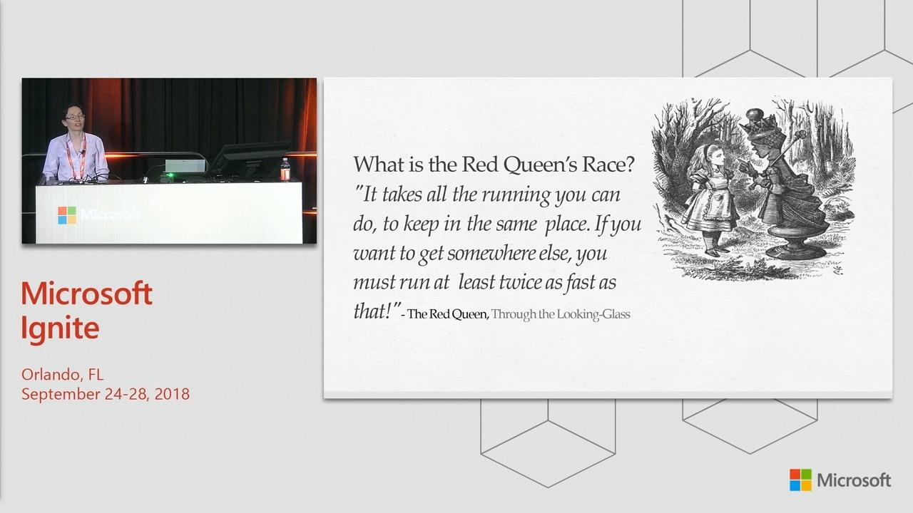 Artificial intelligence: Winning the Red Queen's race with Azure