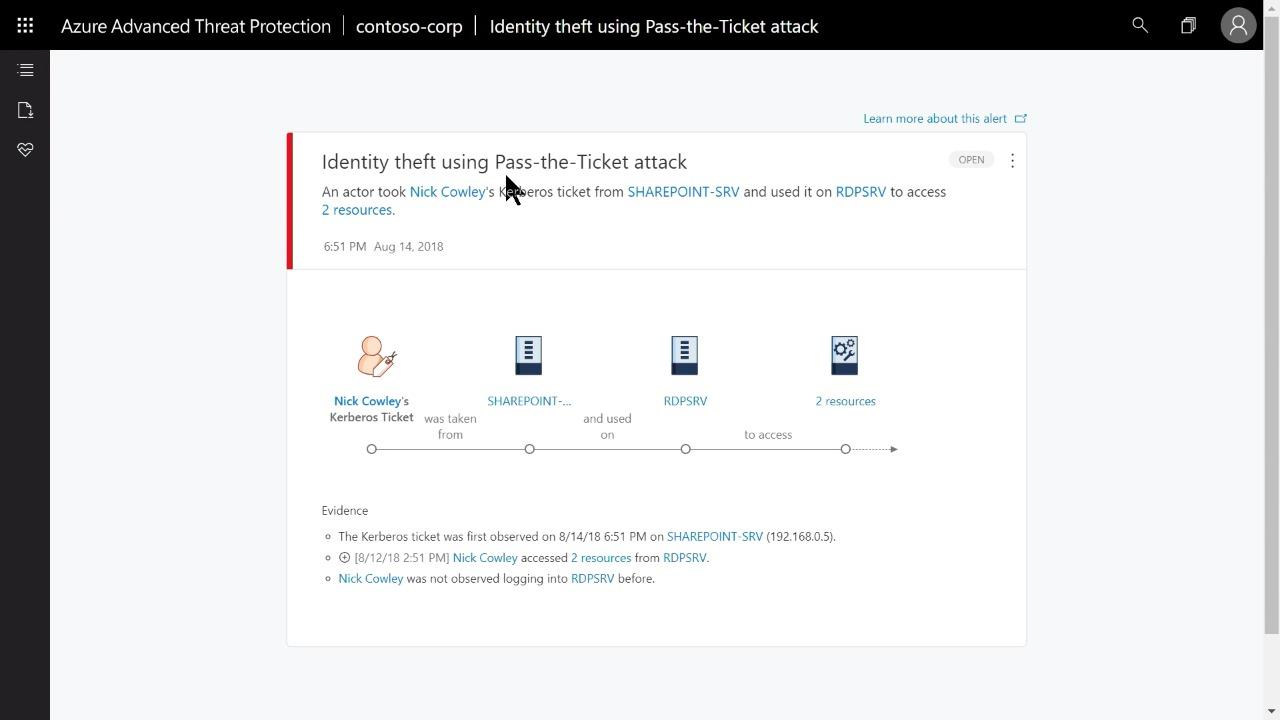 Attack discovery and investigation with Azure Advanced Threat Protection