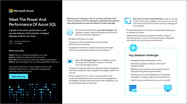 Give your business and apps the upper hand with Azure SQL
