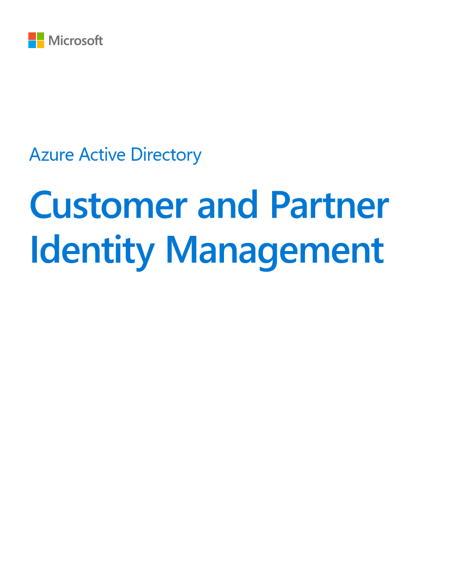 Azure Active Directory Customer and Partner Identity Management