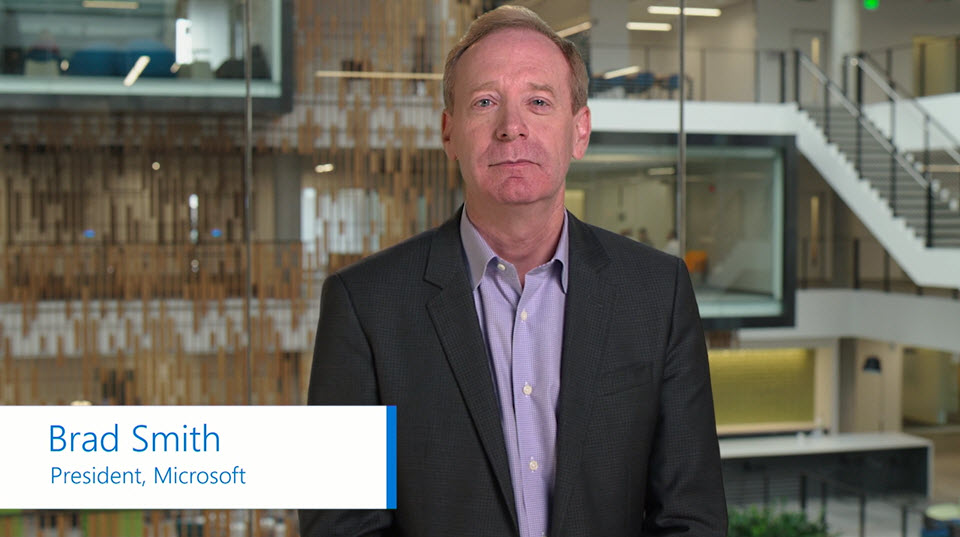 Brad Smith introduces Microsoft Azure IP Advantage