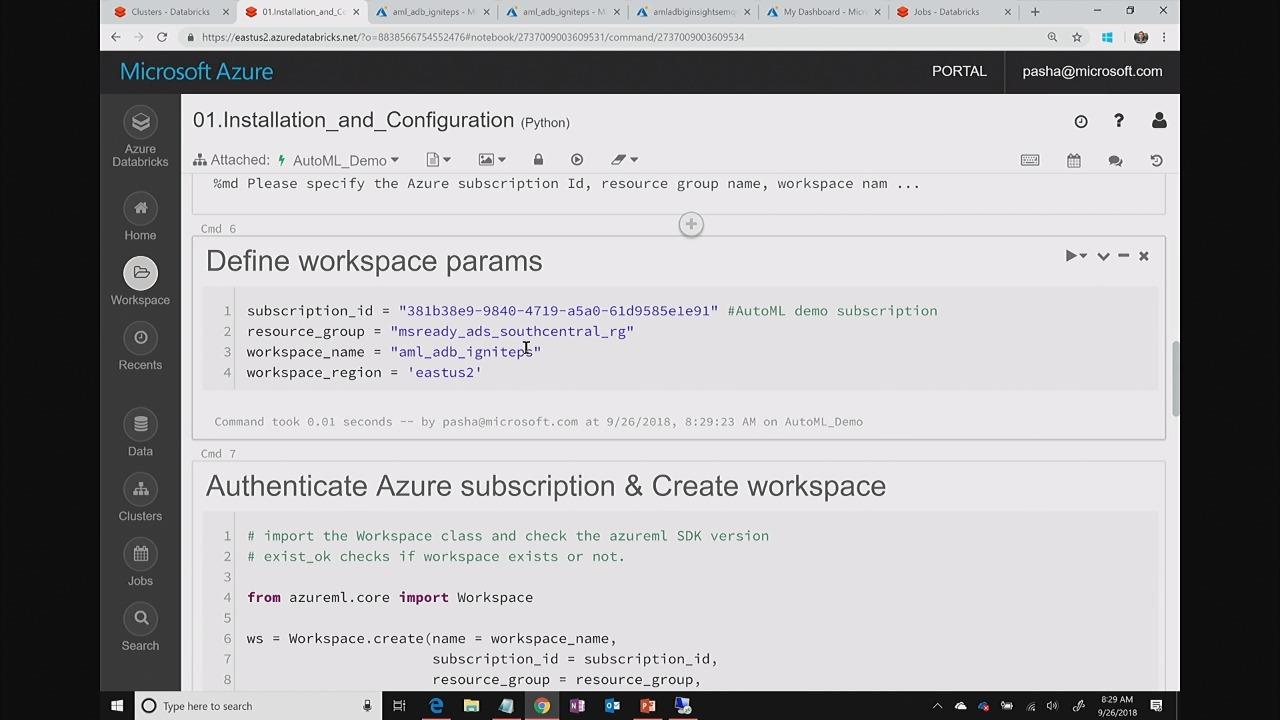 AI TechTalk: Azure Machine Learning SDK - a walkthrough