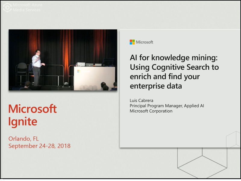 AI and Azure Search for knowledge mining: Using cognitive search on enterprise data