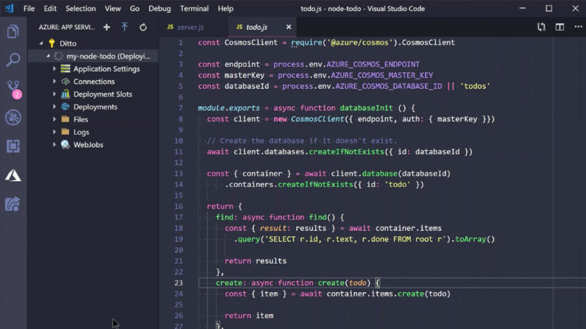 Visual Studio Code deploy to Azure