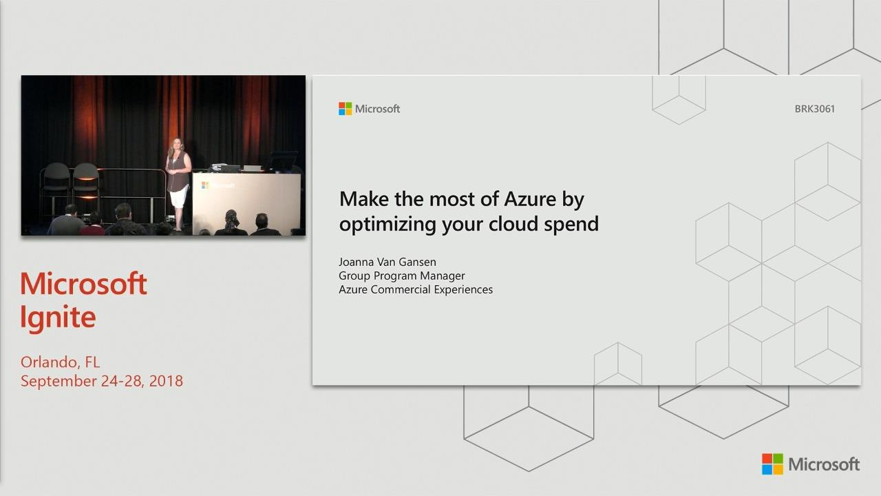 Make the most of Azure by optimizing your cloud spend through Azure Cost Management and Reserved Instances