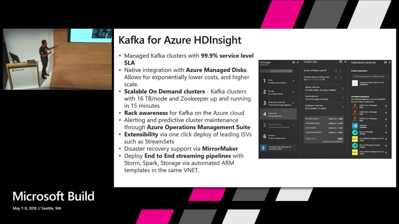Ingestion in data pipelines with Managed Kafka Clusters in Azure HDInsight