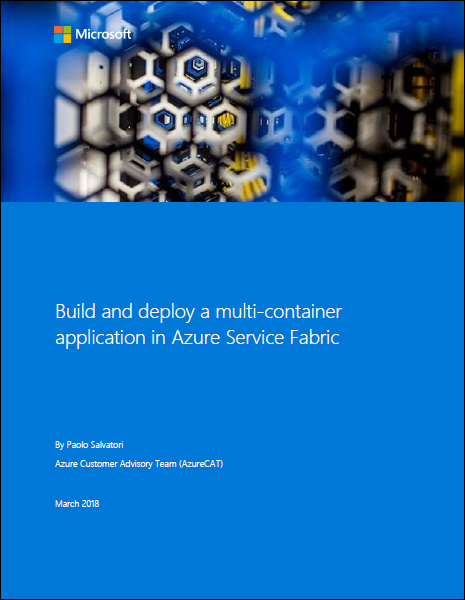 Build and deploy a multi-container application in Azure Service Fabric