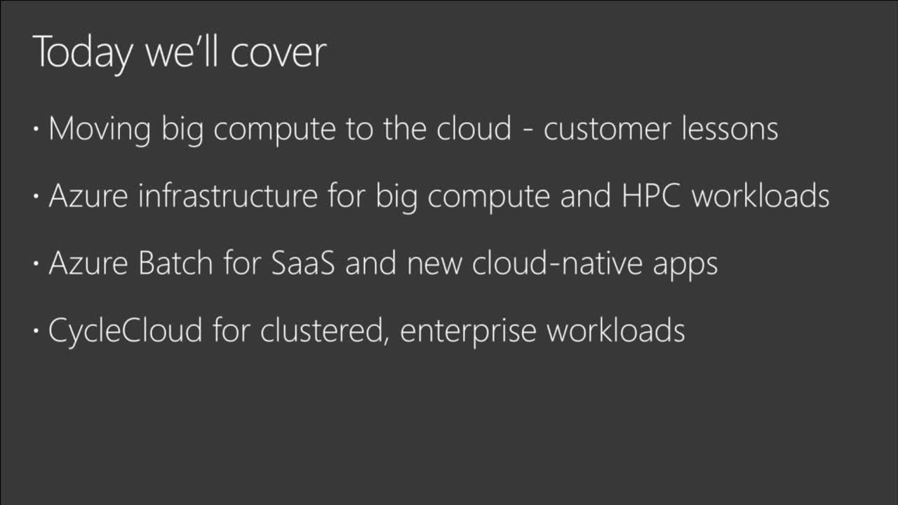 Meet the most demanding HPC customer needs on Azure with Cycle Computing and Azure Batch
