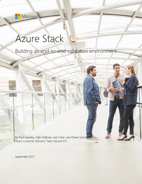Azure Stack: Building an end-to-end validation environment
