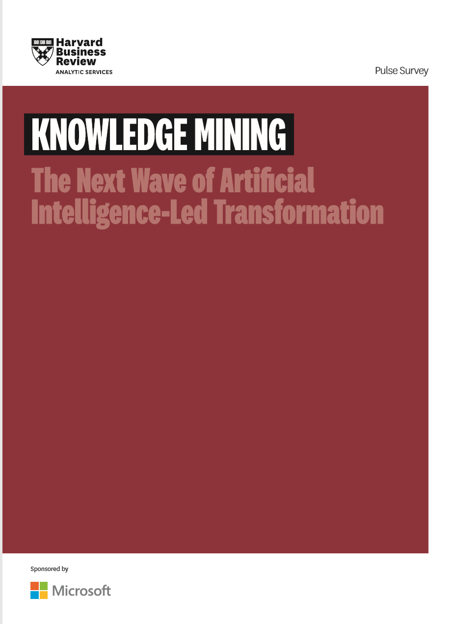 Knowledge Mining: The Next Wave of Artificial Intelligence-Led Transformation