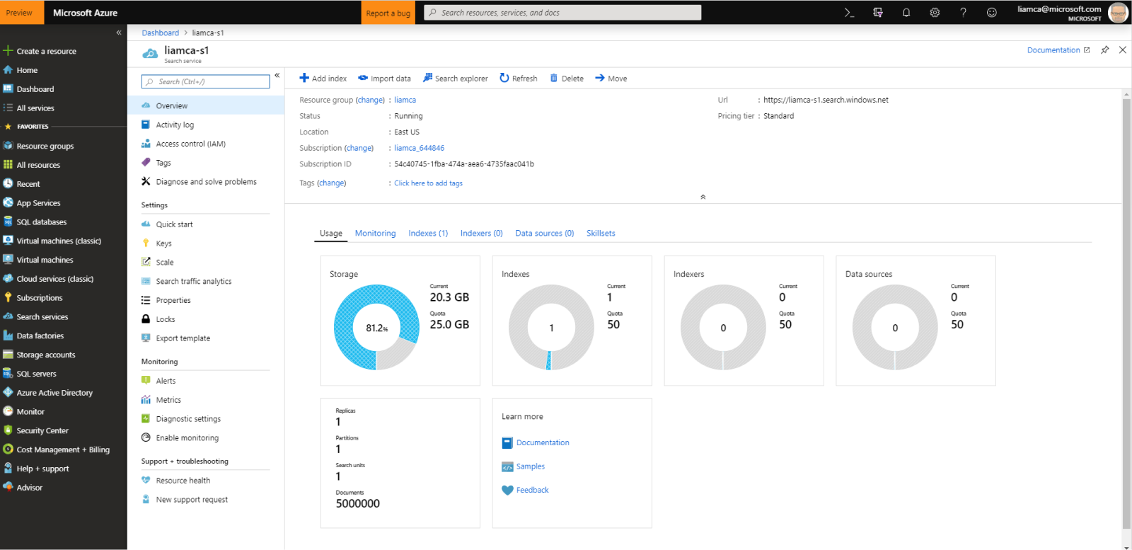 Azure Cognitive Search provides numerous security capabilities