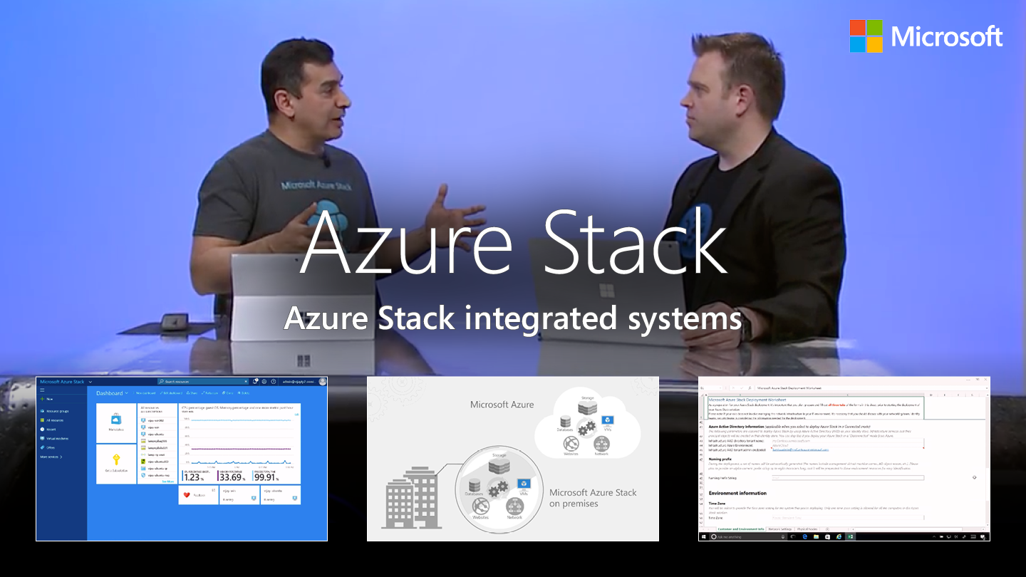 Azure Stack integrated systems – how to bring Azure to your data center
