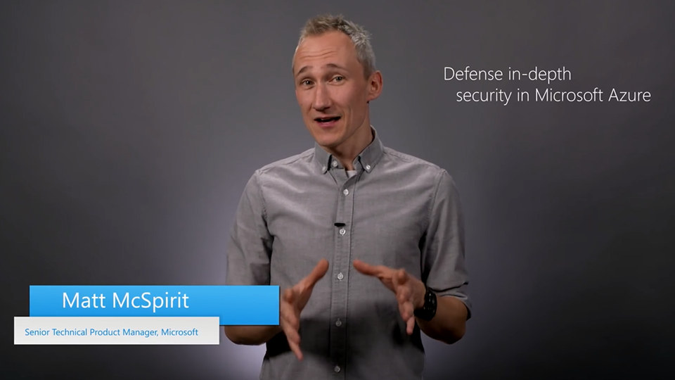 Defense in depth security in Azure