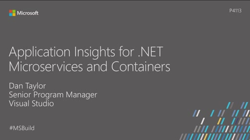 Application Insights for .NET Microservices and Containers