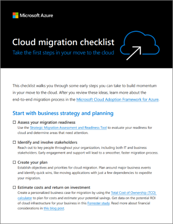 Cloud Migration Checklist: Simple steps to start your migration today