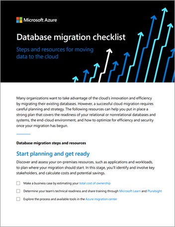 Database migration checklist—steps and resources for moving to the cloud
