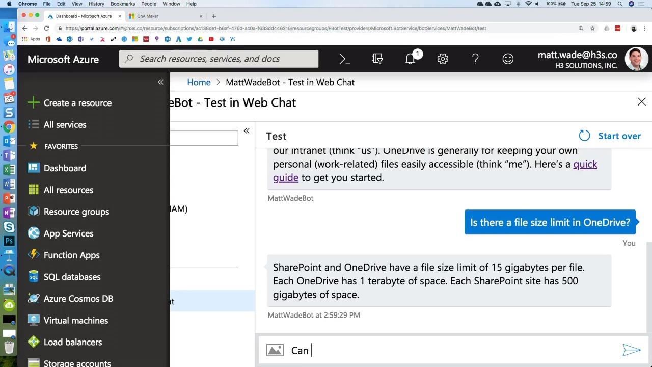 Getting started with Microsoft Bot Framework and Azure Bot Services