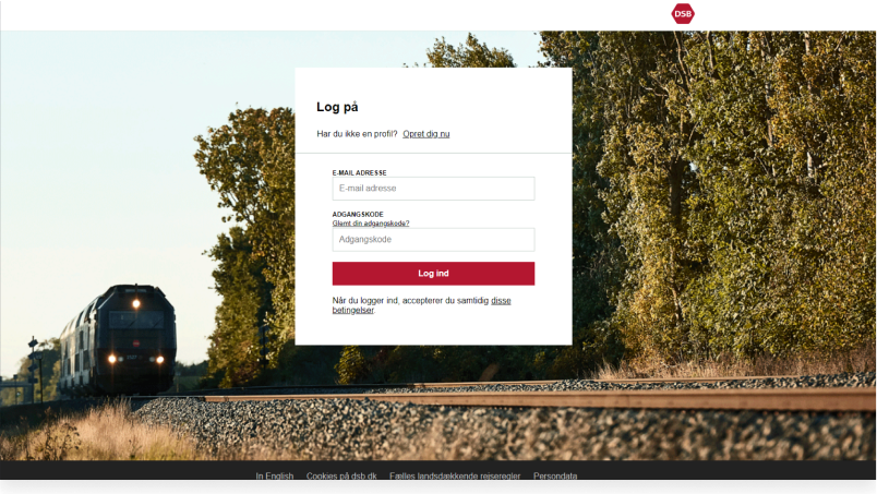 Customized log-inportal for DSB, the largest Danish train operating company.