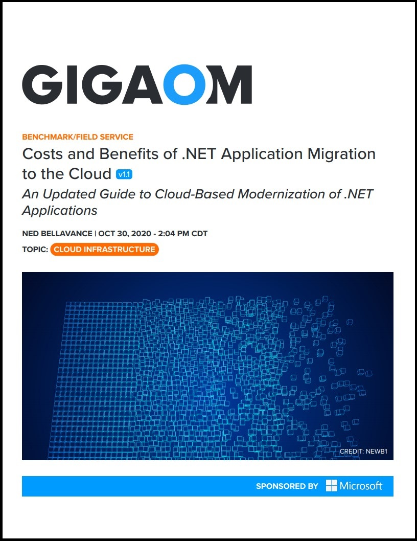 Costs and Benefits of .NET Application Migration to the Cloud