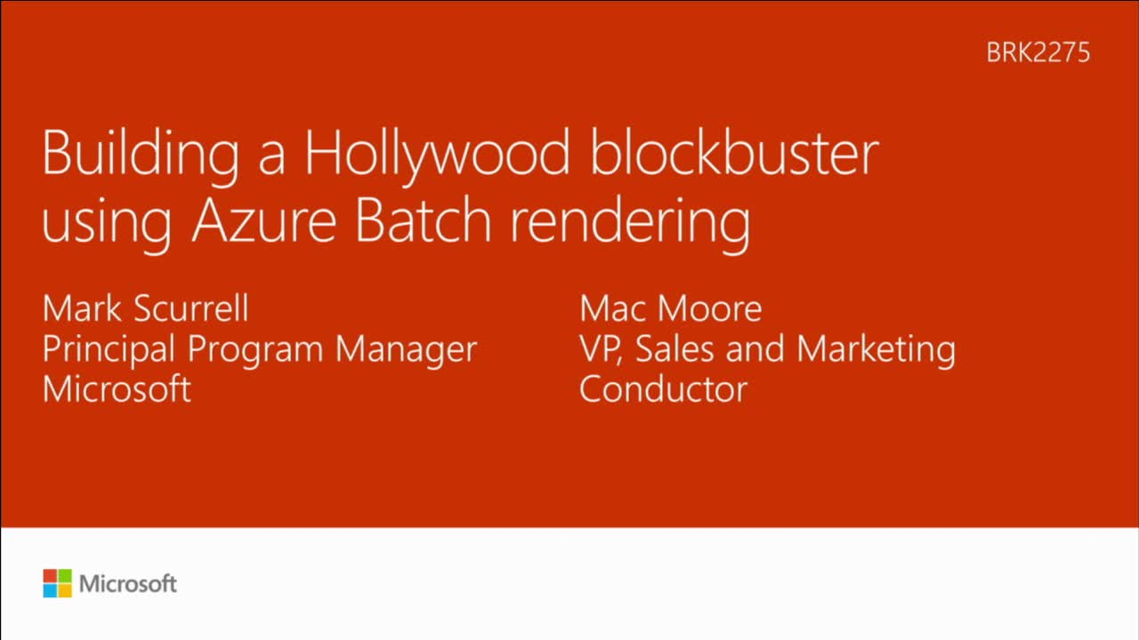 Building a Hollywood blockbuster by using Microsoft Azure Batch rendering