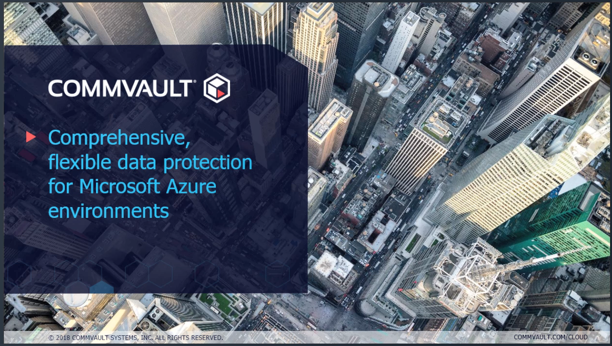 Commvault helps us launch the Azure Storage Solution Showcase