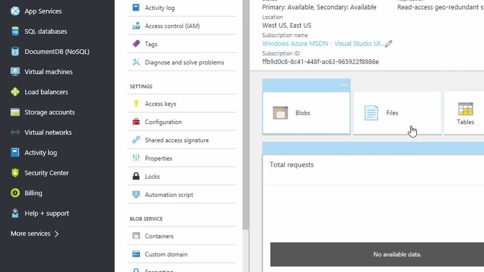 Get started with Azure Storage