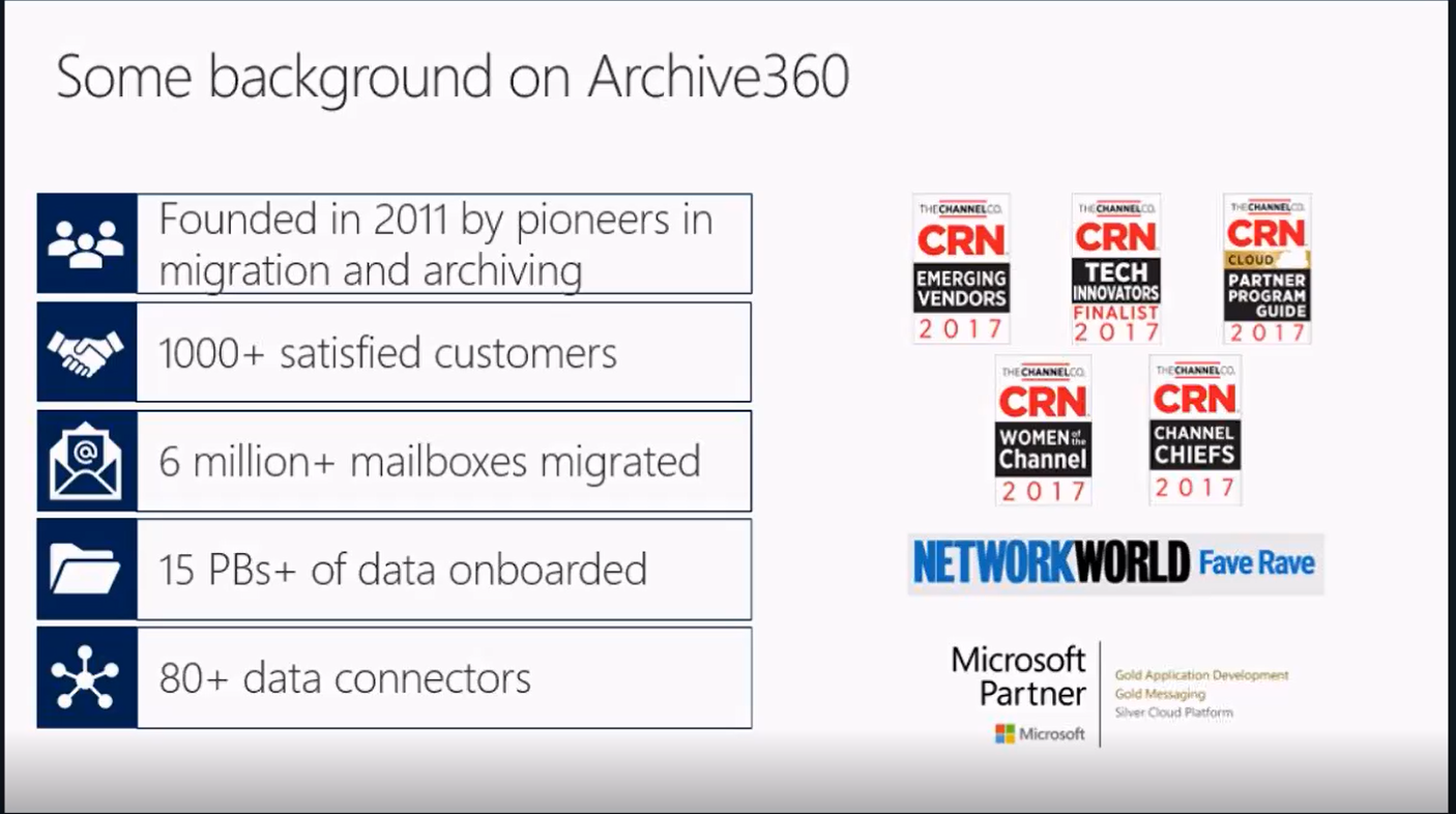 Archive360 joins the Azure Storage Solution Showcase