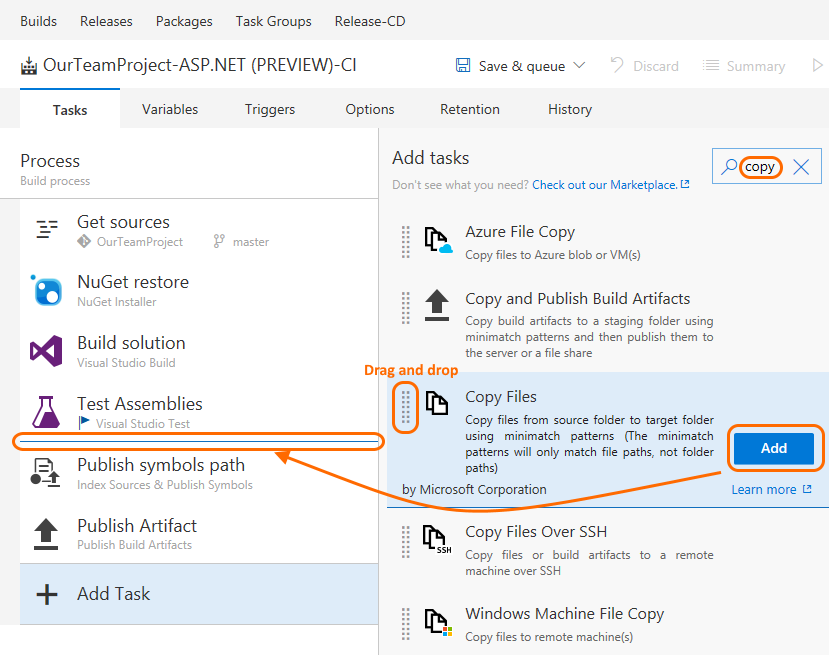 build editor add task