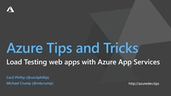 Screenshot from Azure Tips & Tricks | How to load test your web apps with Azure App Services