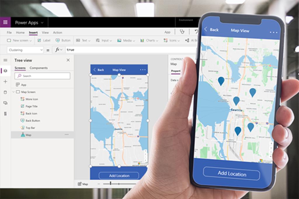Azure Maps interactive vector tiles in Power Apps.