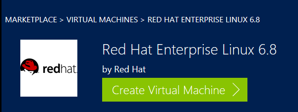 Red Hat Enterprise Linux 6.8 in Azure Marketplace