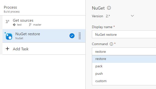 NuGet restore task