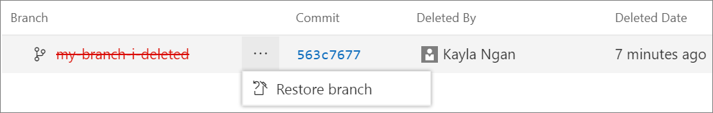 Restore deleted branch