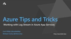Thumbnail from How to work with Log Stream and Azure App Services