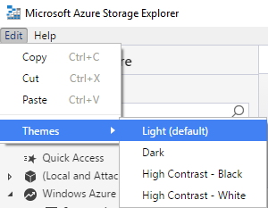 Themes - Microsoft Azure Storage Explorer