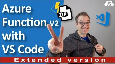 Thumbnail from Deploy an Azure Function V2 (to unzip automatically your files) with Visual Studio Code on YouTube