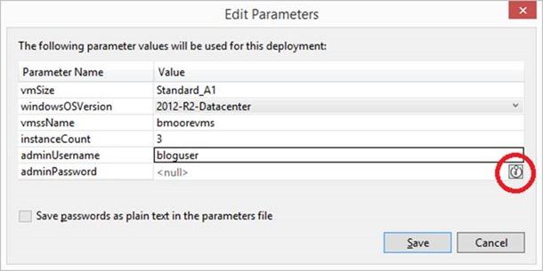 Edit Parameters dialog